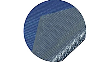 Space Age Solar Cover   18'x34' Oval for Above Ground Pool   Blue-Silver   5-Year Warranty   8-MIL Thickness   SC-BS-000024