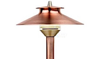 "FX Luminaire DM 1 LED Pathlight  | Copper Finish | 12"" Riser | DM-1LED-12R-CU KIT"
