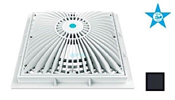 """AquaStar 9"""" Square MoFlow Suction Outlet Cover and Mud Frame 