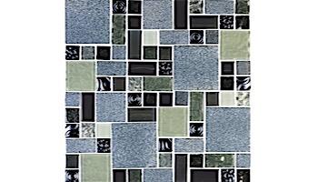National Pool Tile Soleil Mosaic Glass Series Pool Tile | Blue | CLEO
