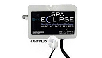 DEL OZONE Spa Eclipse Corona Discharge Ozone Generator | 1,000 Gallons | 100V/250V | AMP Cord | ECS-1RPAM2-U