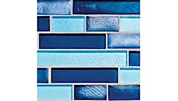 National Pool Tile Aquascapes Interlocking Glass Tile | Sapphire | OCN-SAPPHIRE IS12