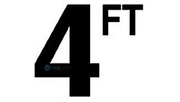 "Depth Marker 4"" Frost proof tile   4 FT Non-Skid   DM42-2040"