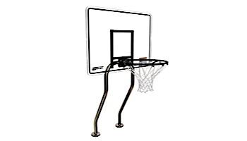 SR Smith Residential Salt Friendly Basketball Game | Dual Post Vinyl Black | No Anchors | S-BASK-CHA