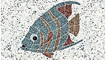 AquaStar Swim Designs Angel Fish Stencil Only   White   F1002-01