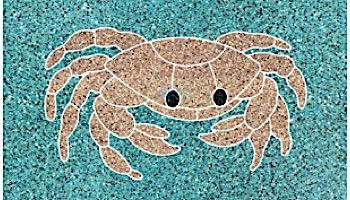 AquaStar Swim Designs Crab Stencil Only   White   F1003-01