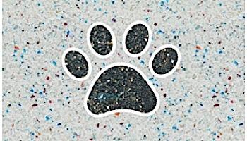 AquaStar Swim Designs Dog Paw Stencil Only   Set of 4 White   F1004-01