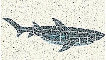 AquaStar Swim Designs Shark Stencil Only | White | F1010-01