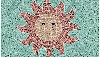 AquaStar Swim Designs Sun Stencil Only | White | F1014-01