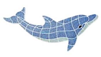 AquaStar Swim Designs Dolphin Medium Stencil Only | White | F1015-01