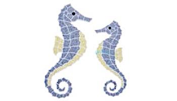 AquaStar Swim Designs Seahorse Medium Stencil Only   White   F1017-01
