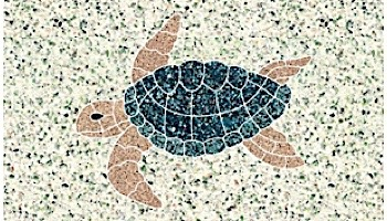 AquaStar Swim Designs Turtle Small Stencil Only | White | F1022-01