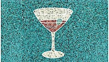 AquaStar Swim Designs Martini Glass Stencil Only | White | F1025-01