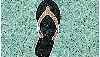 AquaStar Swim Designs Sandal Stencil Only Set of 2 | White | F1028-01