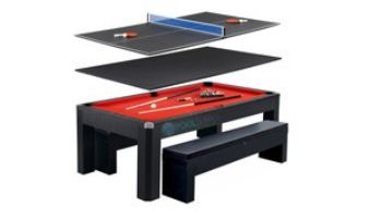 Hathaway Park Avenue 7-Foot Pool Table Combo Set with Benches   NG2530PR BG2530PR