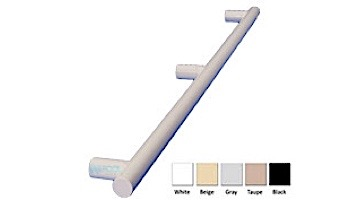 """Saftron 3 Post Safety & Exercise Support Bar .25 Thickness 1.90"""" OD   Single   Taupe   X-60-T"""