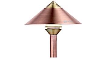 """FX Luminaire QF 3 LED Pathlight   Copper Finish   12"""" Riser   QF-3LED-12R-CU KIT"""
