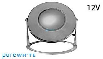 J&J Electronics PureWhite LED Underwater Fountain Luminaire | Base And Guard | 12V 10' Cord | LFF-F1L-12-WG-WB-10