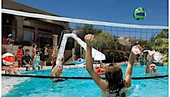 Interfab Volleyball Set | In-Deck Mount | Stainless Steel Support Legs | Plastic Anchors | WS-VBALL GP-C