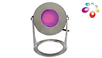 J&J Electronics ColorSplash LED Underwater Fountain Luminaire   Base and Guard   120V 10' Cord   LFF-S1C-120-WG-WB-10