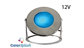 J&J Electronics ColorSplash LED Underwater Fountain Luminaire   With Guard And Base   12V 10' Cord   LFF-F1C-12-WG-WB-10