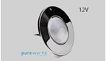 J&J Electronics PureWhite LED Pool Light SwimQuip Series | 12V Equivalent to 300W 30' Cord | LPL-F1W-12-30-PSQ