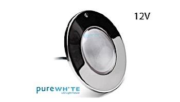 J&J Electronics PureWhite LED Pool Light SwimQuip Series | 12V Equivalent to 500W+ 30' Cord | LPL-F5W-12-30-PSQ