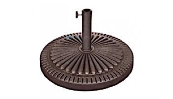 66 lb. Weather Resistant Resin Umbrella Base   Bronze Resin Finish   NU5406