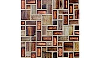 National Pool Tile Cosmopolitan Mosaic Glass Tile | Azure | COS-FREEPORT
