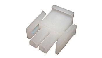AMP Plug MATE-N-LOCK 2 Pin White | 1-480698-0