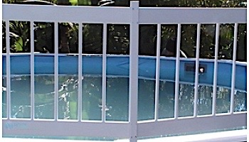 GLI Pool Products Resin Fence Kit (C) - Includes 2 Add-On Sections | 30-CKIT-WHT