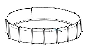 """Oxford 30' Round Resin 52"""" Sub-Assy for CaliMar® Above Ground Pools 