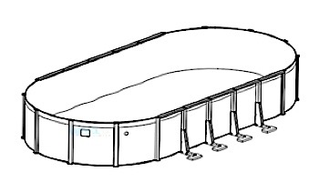 """Sierra Nevada 16' x 24' Oval Resin 52"""" Sub-Assy for CaliMar® Above Ground Pools 