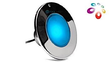 J&J Electronics ColorSplash XG Series Color LED Pool Light SwimQuip Version | 12V Equivalent 33W 30' Cord | LPL-F2C-12-30-PSQ