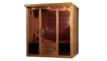 Golden Designs Monaco 6-Person Near Zero EMF FAR Infrared Sauna | Hemlock | GDI-6996-01