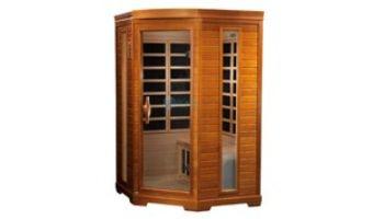 Golden Designs Dynamic Heming 2-Person Corner Low EMF FAR Infrared Sauna | Hemlock | DYN-6225-02