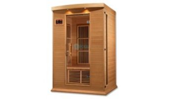Golden Designs Maxxus 2-Person Low EMF FAR Infrared Carbon Sauna | Hemlock | MX-K206-01