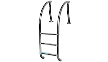 """Inter-Fab Designer Series 3 Step Ladder With Sure-Step Treads   1.90"""" x .065"""" Thickness 304 Stainless Steel   DR-L3065S"""