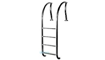 """Inter-Fab Designer Series 4 Step Ladder With Sure-Step Treads   1.90"""" x .065"""" Thickness 304 Stainless Steel   DR-L4065S"""