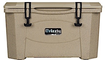 Grizzly Coolers 40 Quart Cooler with BearClaw™ Latches and Molded-in Heavy Duty Handles | Sandstone with Tan Cover | IRP-9080-S