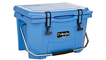 Grizzly Coolers 20 Quart Cooler with BearClaw Latches and Stainless Steel Handle with Foam Grip   Blue   IRP-9090-B