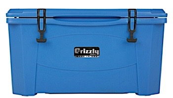 Grizzly Coolers 40 Quart Cooler with BearClaw™ Latches and Molded-in Heavy Duty Handles | Blue | IRP-9080-B