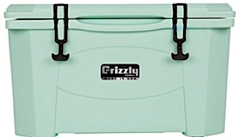 Grizzly Coolers 40 Quart Cooler with BearClaw™ Latches and Molded-in Heavy Duty Handles | Sea Foam Green | IRP-9080-SG