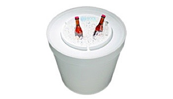 Ledge Lounger Signature Collection Ice Bin Side Table | White | LL-SG-IB-W