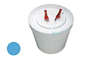 Ledge Lounger Signature Collection Ice Bin Side Table   White   LL-SG-IB-W