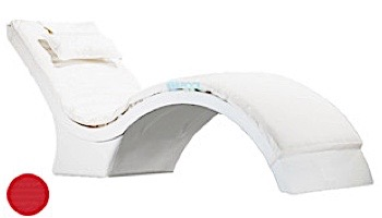 Ledge Lounger Signature Collection Chaise Deep Cushion with Pillow | Standard Color White | LL-SG-CD-CP-STD-4634