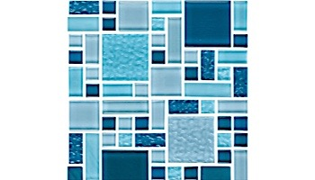 National Pool Tile Fusion Mosaic Glass Tile | Imperial Blue | FS-IMPERIAL