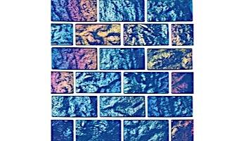 National Pool Tile Lightwaves Glass Tile   Sea Green 1x2   LWV-SEA GREEN1x2