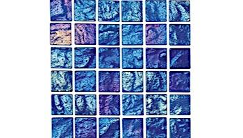 National Pool Tile Lightwaves Glass Tile   Aquamarine 1x1   LWV-AQUAMARINE