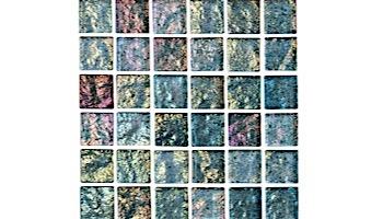 National Pool Tile Lightwaves Glass Tile   Sea Green 1x1   LWV-SEA GREEN